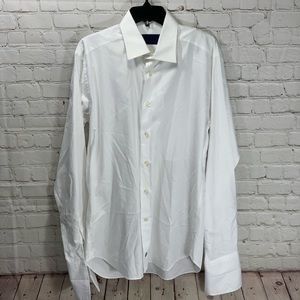NWOT David Donahue Solid White French Cuff Shirt